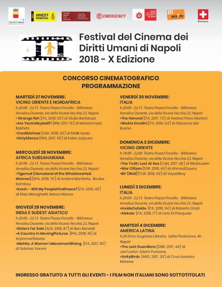 Calendario proiezione Festival Focus 2018